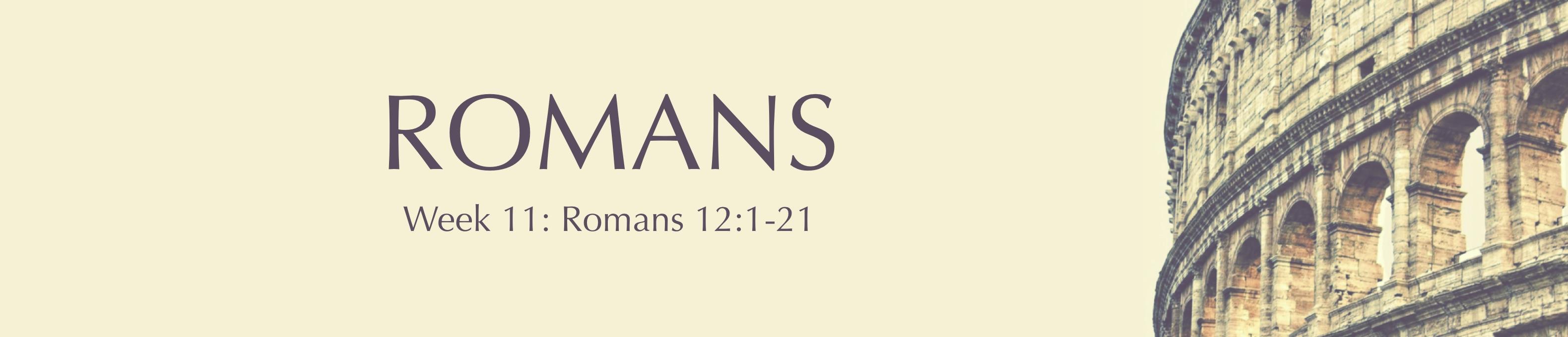 11 Week 11 Romans Banner